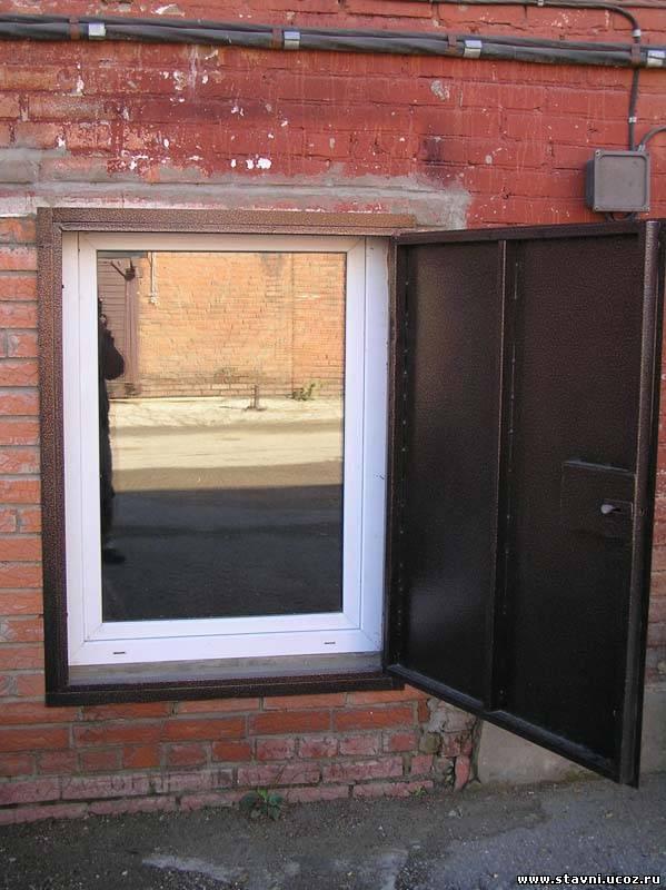металлический ставни на окна