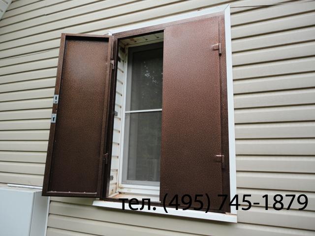 Ставни из металла на окна в дачном доме своими руками 46